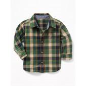Plaid Poplin Shirt for Baby