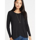 Maternity Wrap-Front Luxe Nursing Tee