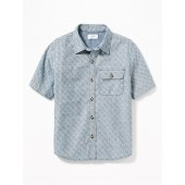 Classic Chest-Pocket Shirt for Boys