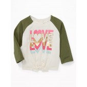 Graphic Bow-Tie Hem Tee for Baby
