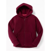 Sherpa Zip Hoodie for Girls