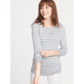 Maternity Fitted Crew-Neck Sweater