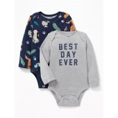 Patterned Bodysuit 2-Pack for Baby