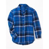 Plaid Twill Boyfriend Tunic Shirt for Girls