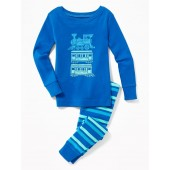 Train-Graphic Sleep Set for Toddler Boys & Baby