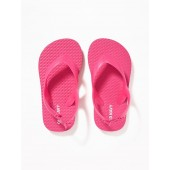 Solid-Color Flip-Flops for Toddler Girls