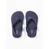 Solid-Color Flip-Flops for Toddler Boys
