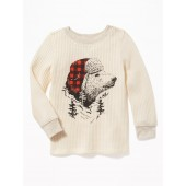 Graphic Thermal Tee for Toddler Boys