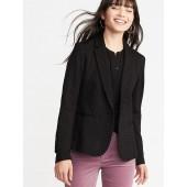 Ponte-Knit Flocked-Dot Blazer for Women