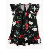 Floral Ruffle-Trim Dress for Baby