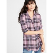 Relaxed Classic Soft-Brushed Twill Shirt for Women