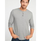 Double-Knit Long-Sleeve Henley for Men