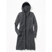 Relaxed Super-Long Open-Front Hoodie for Girls