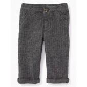 Herringbone Rolled-Cuff Dress Pants for Baby
