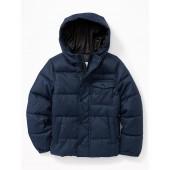 Quilted Herringbone Hooded Jacket for Boys
