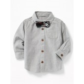 Dress Shirt & Bow-Tie Set for Baby