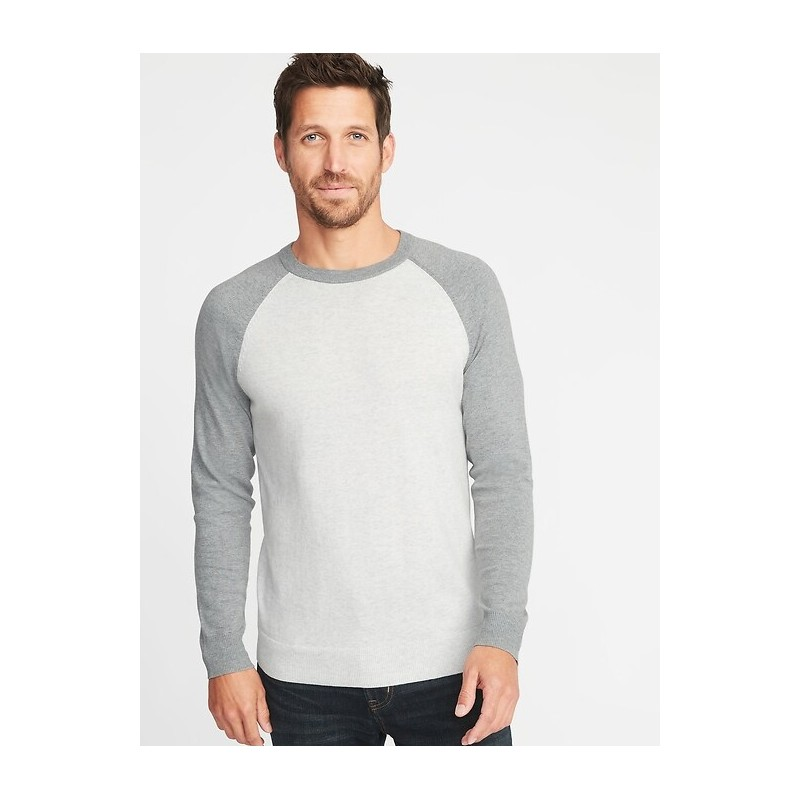 Color-Block Raglan-Sleeve Sweater for Men