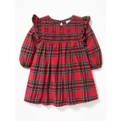 Plaid Ruffle-Trim Dress for Baby