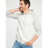 Color-Blocked Pullover Raglan Hoodie for Men