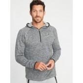 Go-Warm Textured 1/4-Zip Hoodie for Men