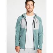Dynamic Fleece 4-Way-Stretch Color-Block Zip Hoodie for Men