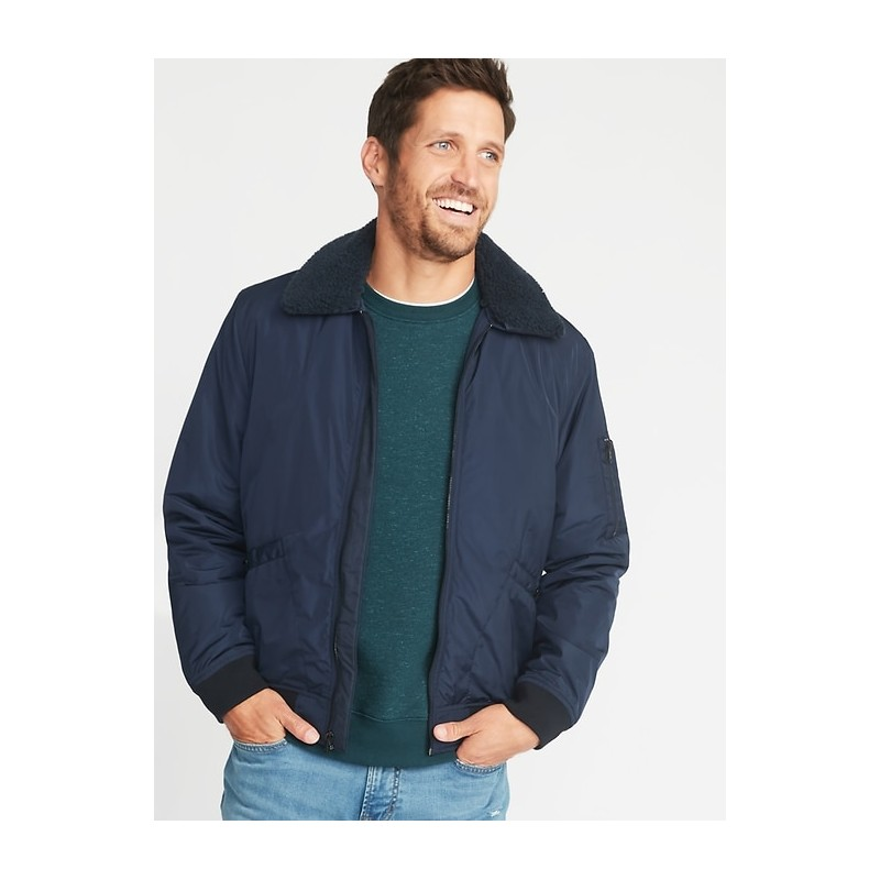 Water-Resistant Aviator Jacket for Men