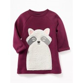Raccoon-Critter Sweatshirt Dress for Baby