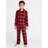 Plaid Flannel Sleep Set for Boys