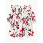 Floral Smocked-Yoke Dress for Baby