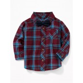 Plaid Shirt & Bow-Tie Set for Baby