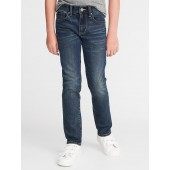 Relaxed Slim Built-In Warm Roll-Cuff Jeans for Boys