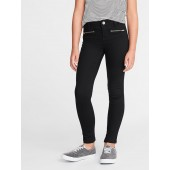 Ballerina Zip Faux-Pocket Jeggings for Girls