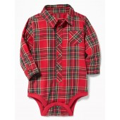 Plaid Bodysuit for Baby