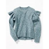 Ruffle-Sleeve Sweater for Girls