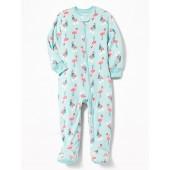 Flamingo Micro Fleece Footed Sleeper for Toddler & Baby