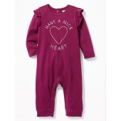 Graphic Ruffle-Trim One-Piece for Baby