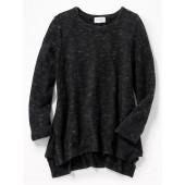 Plush-Knit Hi-Lo Sweater for Girls