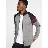 Go-Dry Color-Block Velour-Trim Track Jacket for Men