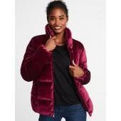 Quilted Velvet Jacket for Women