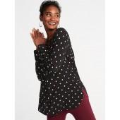 Lightweight Printed Tunic Shirt for Women