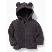 Sherpa Bear-Critter Zip Hoodie for Baby