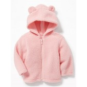 Hooded Sherpa Zip Jacket for Baby