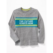 Graphic Color-Block Long-Sleeve Tee for Boys