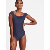 Textured Off-the-Shoulder Swimsuit for Women