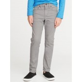 Relaxed Slim Built-In Warm Gray-Wash Jeans for Boys
