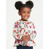 Floral Top for Toddler Girls