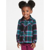 Plaid Flannel Shirt for Toddler Girls