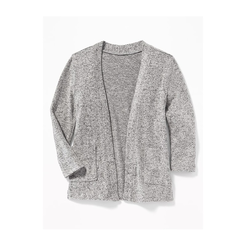 Plush-Knit Open-Front Sweater for Toddler Girls