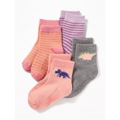 Graphic Crew Socks 4-Pack for Toddler & Baby