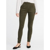 High-Rise Stevie Faux-Suede Ponte-Knit Pants for Women
